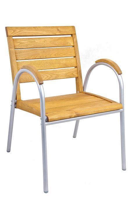 stolica, SOLANO, aluminij, bagrem, tikovina, drvo